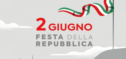 """Cover: sfondo grigio con bandiera italiana e scritta """"2 giugno Festa della Repubblica"""""""
