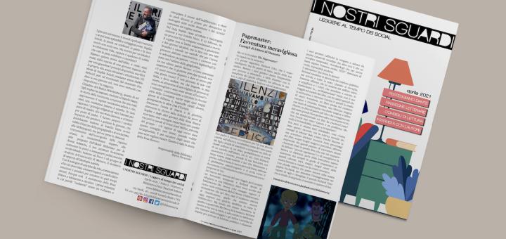 I nostri sguardi A2 N4 - La rivista della biblioteca - mockup