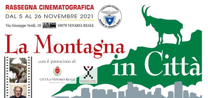 """Cover """"La Montagna in Città"""", rassegna cinematografica di CAI Venaria real"""